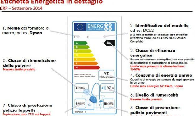 PERDE LA UE: AZZERATA L'ETICHETTA ENERGETICA SUGLI ASPIRAPOLVERI